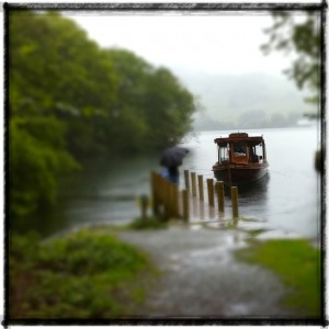 Traditional Windermere launch at Wray Castle Landing