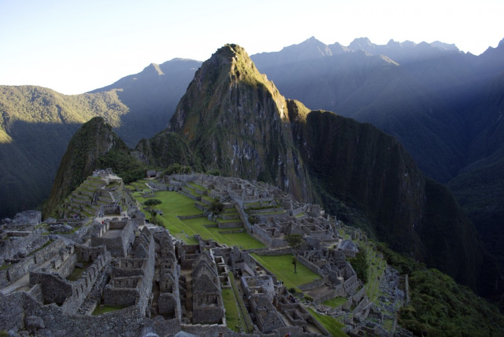The classic photograph of Machu Picchu