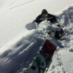 Taking a rest in the powder